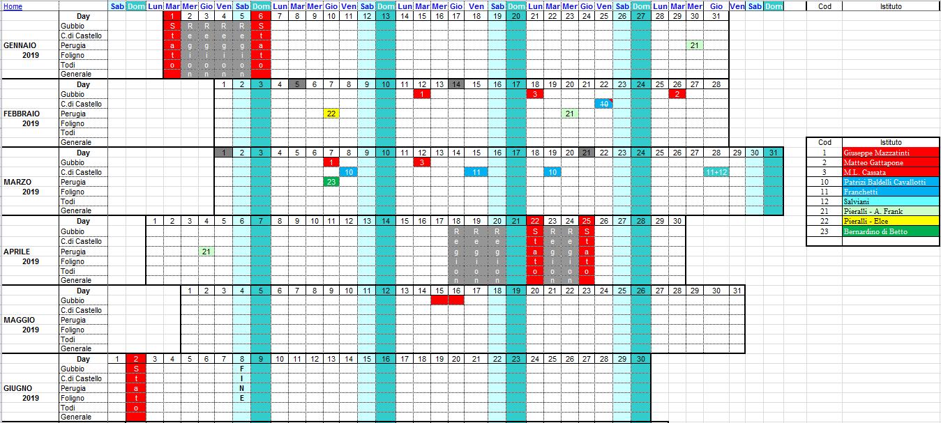 Calendario Attivita.Calendario Attivita In Strada Con Sicurezza
